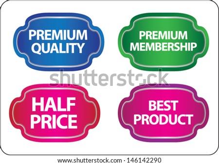 promotional sale labels set - stock vector