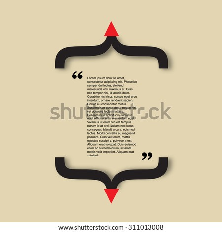 Quote citation Typographical Poster slide Template. Art creative style. For your commercial project or personal use. - stock vector