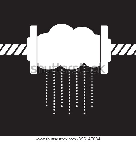 rainmaker:  squeeze rain drops  out of cloud - stock vector