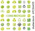 38 recycle icons vector symbols - stock vector