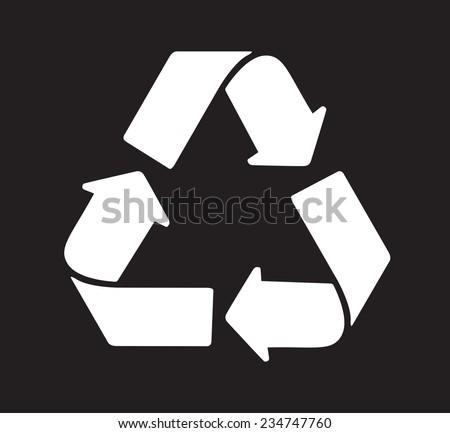 Recycle logo vector - stock vector