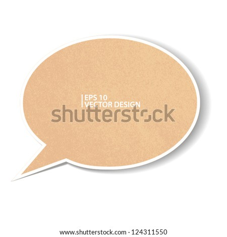 recycle paper on white. vector design - stock vector