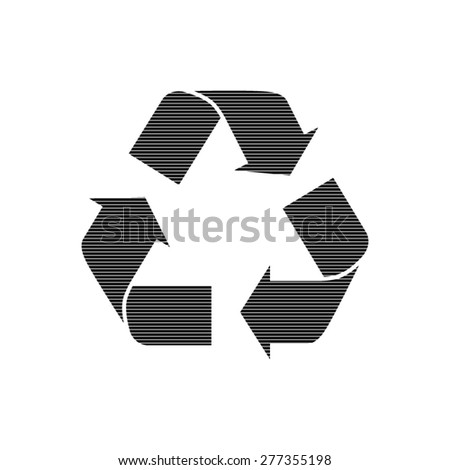 Recycle sign  - vector icon