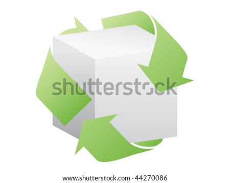 recycling box vector illustration - stock vector
