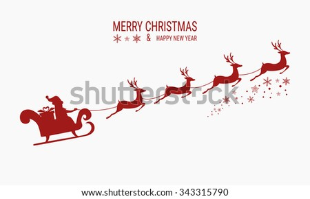 Santa And His Reindeer Stock Images RoyaltyFree Images