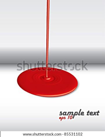 red splash - stock vector