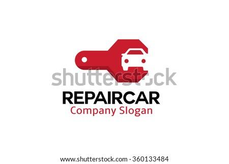 Repair Car Design Illustration  - stock vector