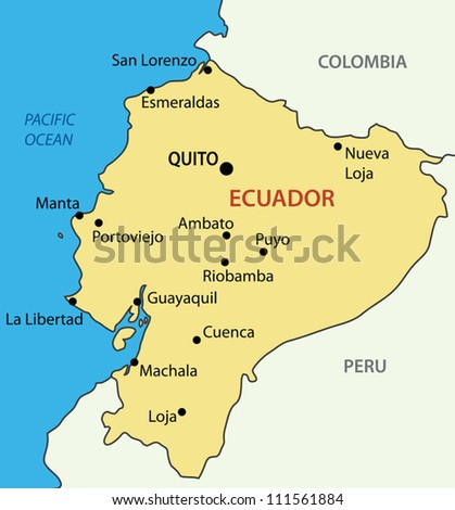 Ecuador map stock images royalty free images vectors shutterstock republic of ecuador vector map gumiabroncs Choice Image