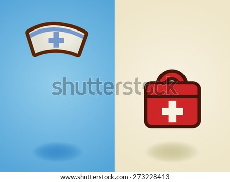 Rescue , medical , health care , support, volunteer  icon  in flat design style - Vector file EPS10