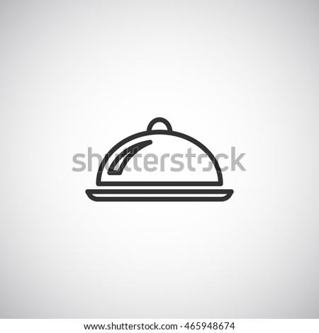 Restaurant cloche icon vector.