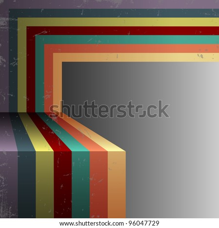 Retro abstract background.Vector eps10 - stock vector