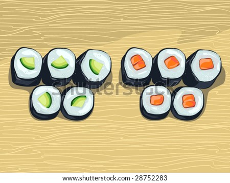 rolls (editable layers) - stock vector