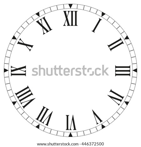 Precision Roman Clock Face Template Illustration 5637130 – Clock Face Template