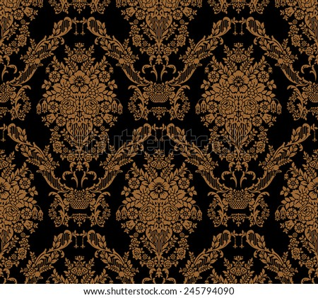 Royal vector ornament, vintage old pattern, Seamless luxury floral vintage gothic wallpaper, floral motifs, - stock vector