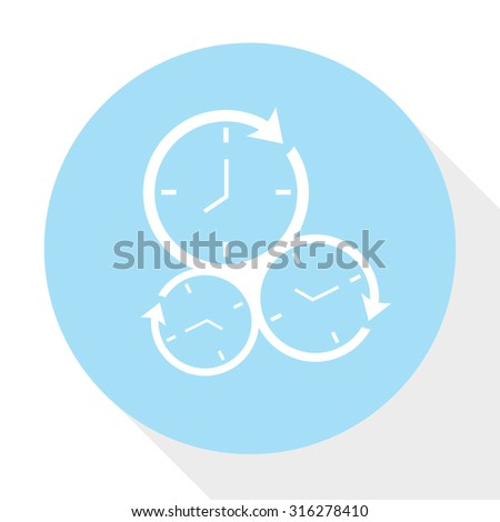 running time icon - stock vector
