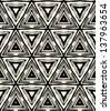 1930s art deco geometric pattern with triangles and random dots. Texture for web, print, wallpaper, home decor, fashion fabric, textile wallpaper, website or invitation background in hipster style - stock vector