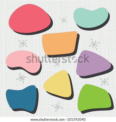 50's Bubble Shapes - stock vector