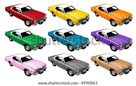 1970's Coupe - stock vector