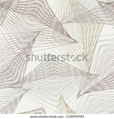 1930s geometric art deco modern futuristic pattern. Texture for print, wallpaper, textile, holiday wrapping, website background or invitation card - stock vector