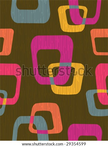 70s Old tv - abstract seamless pattern - stock vector
