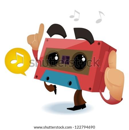 80s Retro music party - stock vector