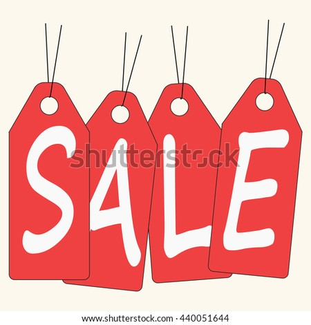 Sale icon vector illustration.Vintage Style Sale Tags Design.