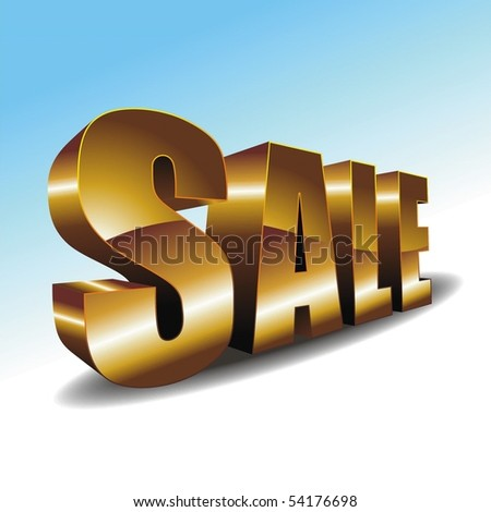 """SALE"" on the white-blue background. Vector illustration for your design - stock vector"