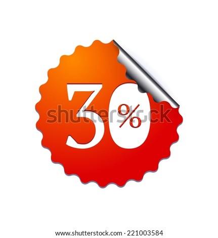 30$ sale sticker. Vector illustration - stock vector