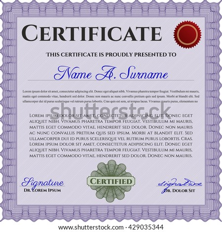 Certificate Completion Template Sample Background Colorful – Sample Certificate