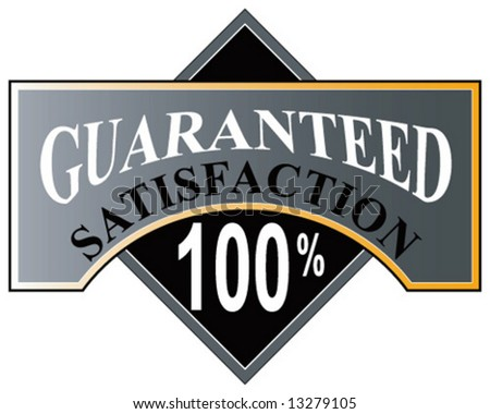 100% satisfaction guaranteed - stock vector