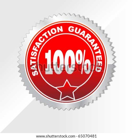 100% Satisfaction Guaranteed label - stock vector