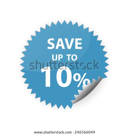 10% save up sticker vector icon - stock vector