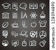 25 school and college icons - stock vector
