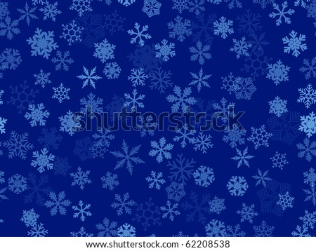 seamless   background of transparent snowflakes - stock vector