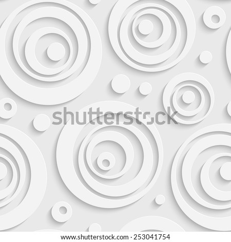 Seamless Bubble Pattern. Vector Soft Background. Regular White Texture - stock vector