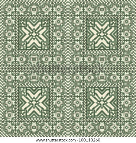 seamless eastern style oriental  pattern,  can be used as textile, wrapping paper or any other decoration, brushes included in eps file - stock vector