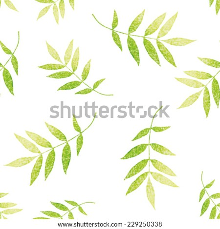 Seamless floral tropical leaves pattern. Seamless background palm leaves  - stock vector