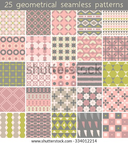 25 seamless pattern. Vector seamless pattern. Endless texture can be used for printing onto fabric, paper or scrap booking, wallpaper, pattern fills, web page background, surface texture.