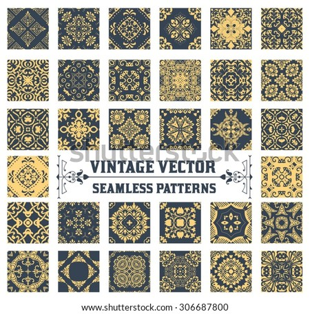 34 Seamless Patterns Background Collection - stock vector