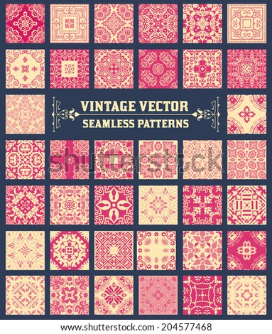 38 Seamless Patterns Background Collection - for design and scrapbook - in vector - stock vector