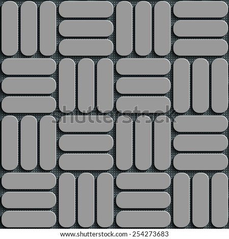 Seamless Square Pattern. Vector Background. Gray Regular Texture