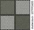 4 seamless swatches with lambdoidal herringbone patterns - stock photo