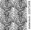 Seamless zebra skin pattern - stock vector