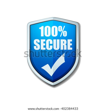 100% Secure shield sign