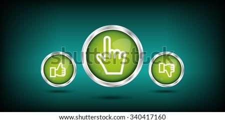 selection icon - stock vector