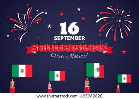 16 september mexico happy independence day stock vector 2018 mexico happy independence day greeting card celebration background with fireworks mexican m4hsunfo Image collections