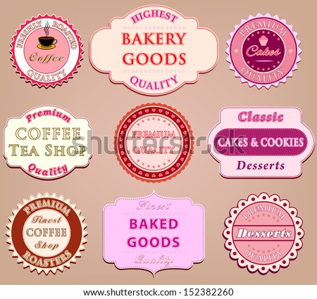 Set of coffee label design - stock vector
