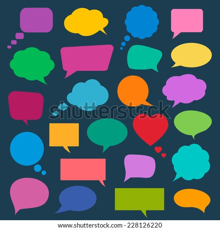 Set of colorful speech bubbles. Vector illustration. - stock vector