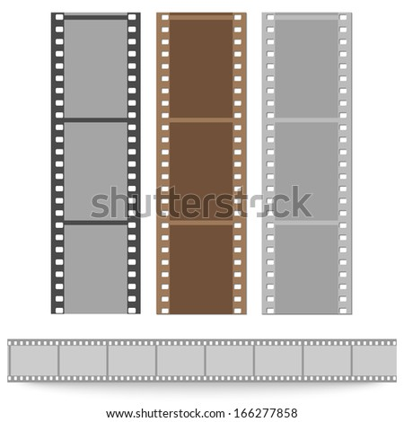 set of films pattern vector background - stock vector