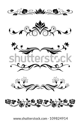 Set of floral design elements, Useful for various projects - stock vector